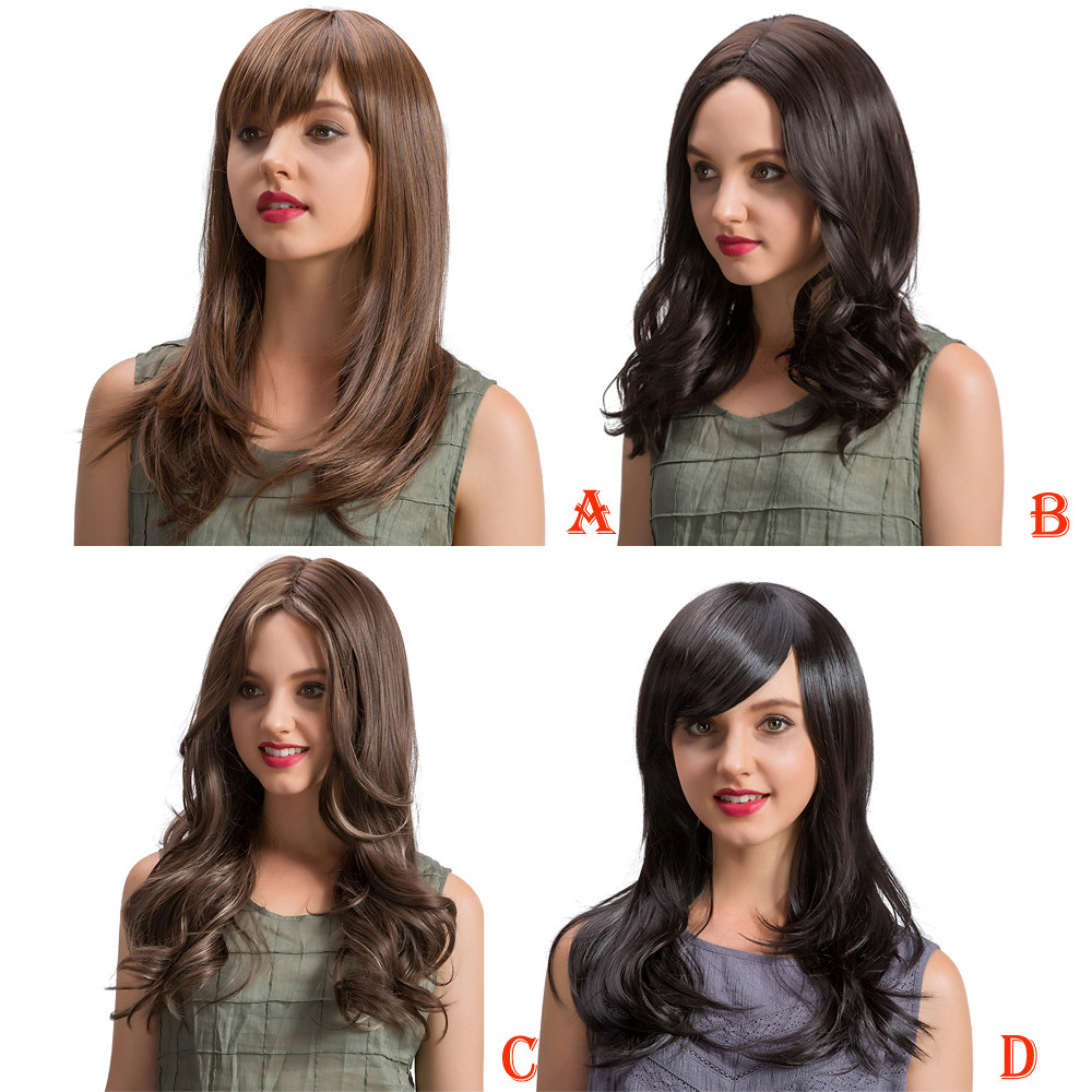 Long Loose Wavy wigs front lace Curly Hair No Lace Front Wig Curly Full Hair wigs for women 52223A