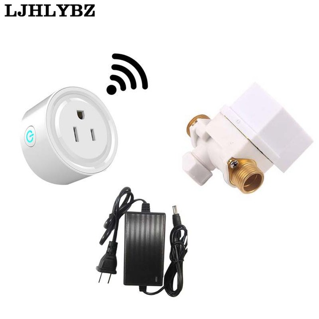 1 Set Automatic Watering WIFI Timer Switch Water Valve Watering Set Irrigation Automatic Broadcast Timer Quantitative Controller