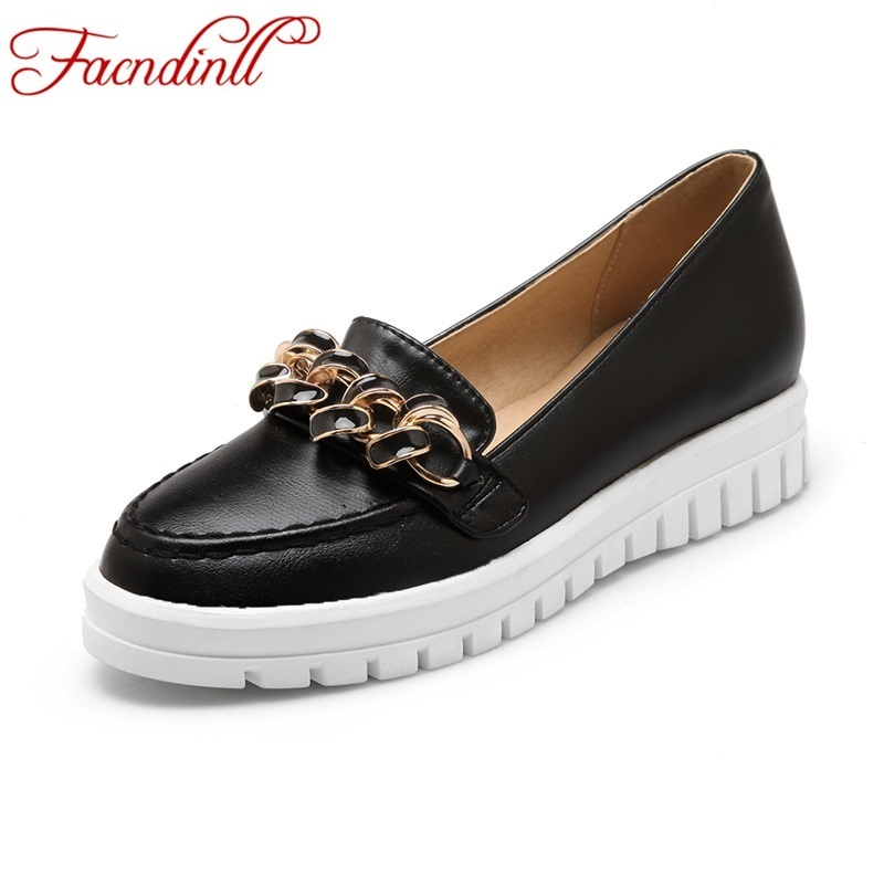 FACNDINLL women flats soft PU leather mother shoes slip-on round toe ballerina flats heels balck platform casual office shoes cresfimix zapatos women cute flat shoes lady spring and summer pu leather flats female casual soft comfortable slip on shoes