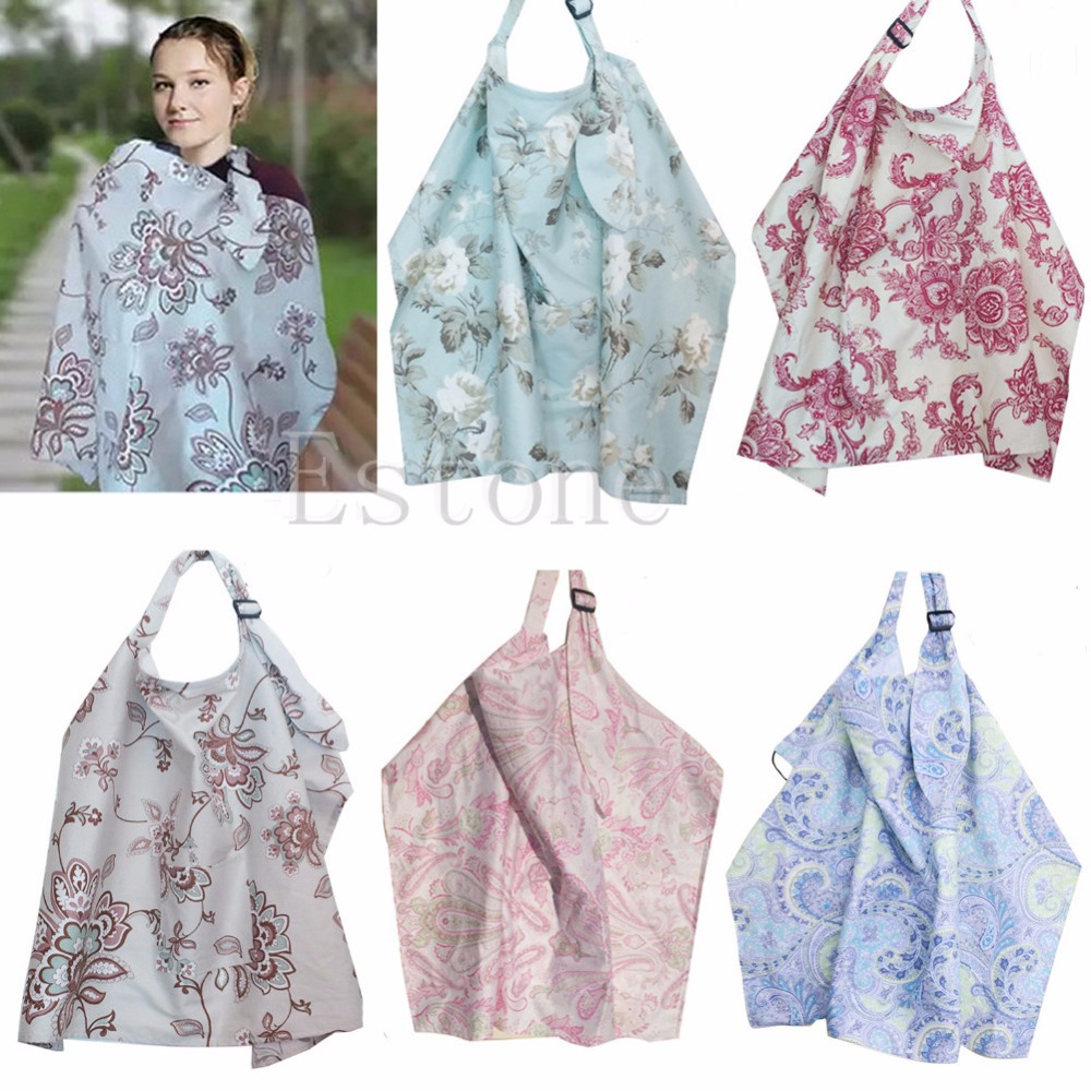 1Pc Baby Mum Breastfeeding Nursing Poncho Cover Up Cotton Blanket Shawl ...