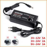 Adjustable AC 100-240V to DC 3V-12V 3V-24V 9V-24V Universal adapter transformer power supply adapter 3 12 24 v For LED strip