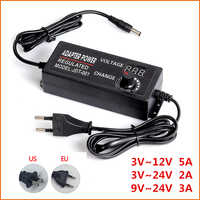 Einstellbare AC Zu DC 3 V 9 V 12 V 24 V Universal Power Adapter Versorgung Bildschirm Power Schalt ladegerät Adapter 3 9 12 24 V Volt