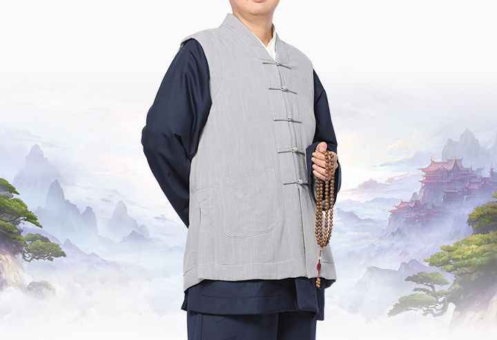 unisex 6colors cotton&linen warm meditation vest zen coat lay suits shaolin monk kung fu clothing buddhist suit blue/coffee/red