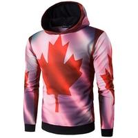 Brand New Men S Hoodies Long Sleeve Printing Canada Flag Sweatshirt High Quality Hoodies Men Assassins