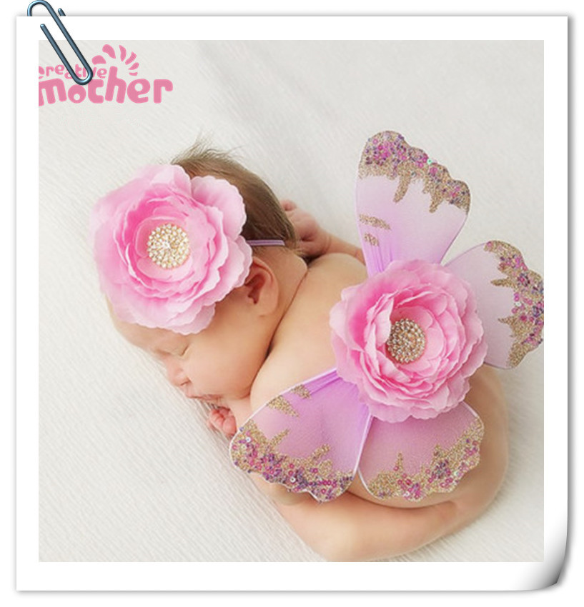 Wholesale Lot 8 Cute Handmade Knit Flowers Barefoot Sandals Baby Photograph New