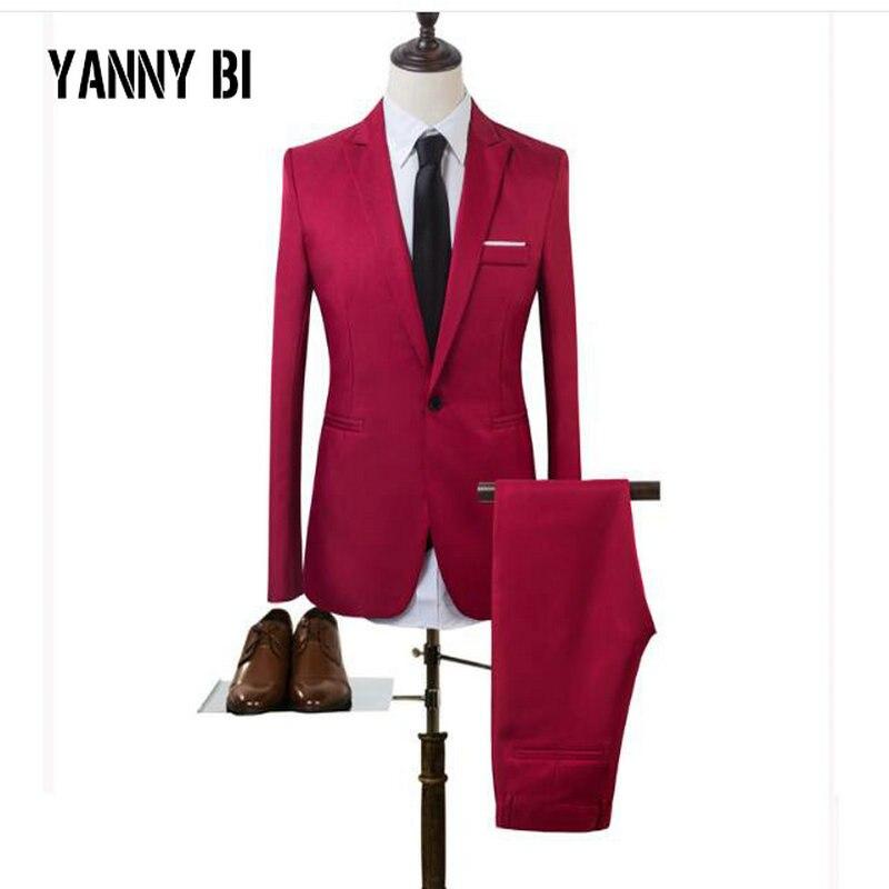 Mens 2 Pieces Blazers Pants Vest Social Suit Asian Size Men Business Suit Set Casual Mens Formale Suits Plus Size5XL MA-24