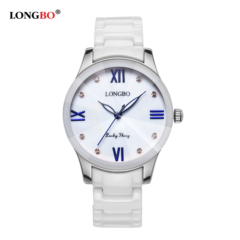 2018 New Women Watches LONGBO Brand Fashion Top Quality Ceramics Female Quartz Gift Watch Luxury Waterproof Ladies Wristwatches longbo new korean luxury jewelry business casual men brand watches fashion leisure waterproof women dress ceramics quartz watch