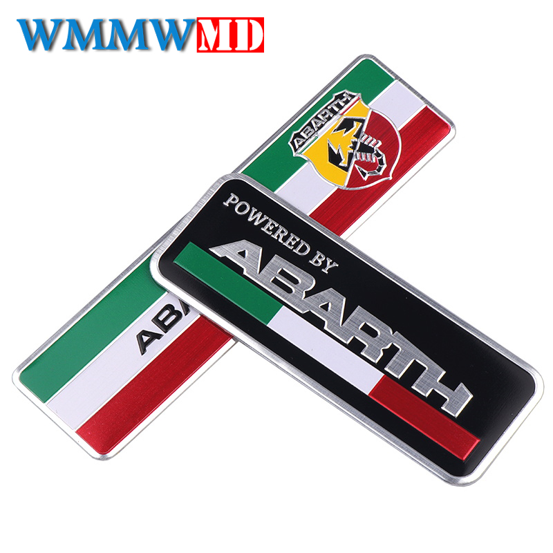 3D Car Abarth Aluminum Adhesive Badge Emblem Logo Decal Sticker Scorpion For All Fiat Abarth Punto 124/125/125/500 Car Styling