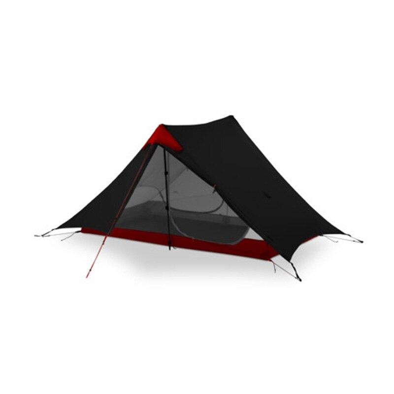 2018 LanShan 2 3F UL GEAR 2 Persona al aire libre ultraligero de la tienda de Camping 3 temporada profesional 15D Silnylon sin vástago Tienda 4 temporada