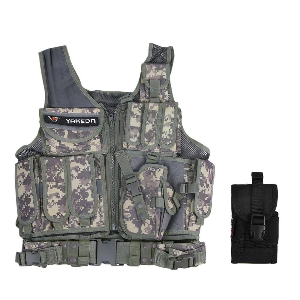 LESHP Hommes Militaire de Gilet Tactique Militaire Molle Combat Assault Plate Carrier Vest CS Vêtements de Plein Air Veste de Chasse