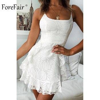 b804777f1381 Vestido sexi de malla de verano para mujer, elegante, elegante, sin  tirantes, dos capas, Espalda descubierta, correa de espagueti, Mini vestido  de ...