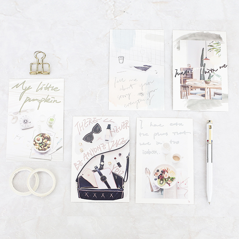 30pcs girlss Delicate life card multi-use as Scrapbooking party invitation DIY Decoration gift card message card postcard