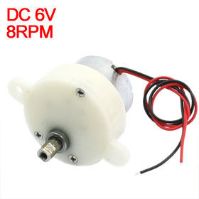цена на Uxcell(R) Hot Sale 1Pcs DC 6V 8rpm High Torque Rotary Speed Reducing Electric Gearbox Motor