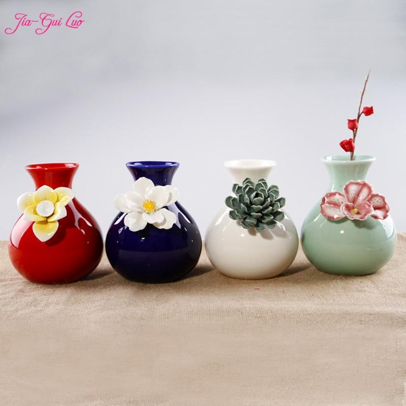 JIA-GUI Luo высоком 12 см китайские вазы керамические дома настольные аксессуары сухоцветы и декоративный цветок Контейнеры украшения
