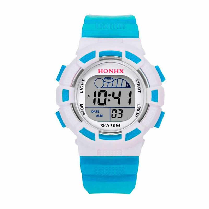 ed3f5f661d50 HONHX niños relojes digitales impermeable Digital LED deportes niños relojes  alarma fecha relogio masculino 40