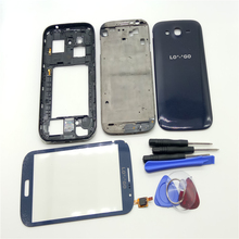 Original Replacement Parts Full Housing Cover Case+Touch screen Glass For Samsung Galaxy Grand Duo GT-i9082 i9082  With Logo