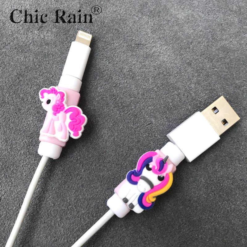 Мой маленький пони мультяшный кабель протектор данных сетевой шнур протектор защитный чехол кабель защитный чехол для кабеля для iPhone usb зарядный кабель