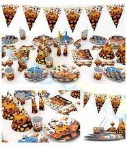 Halloween Easter decoration festival party home creative props supplies pumpkin ghost table decorations disposable tableware set