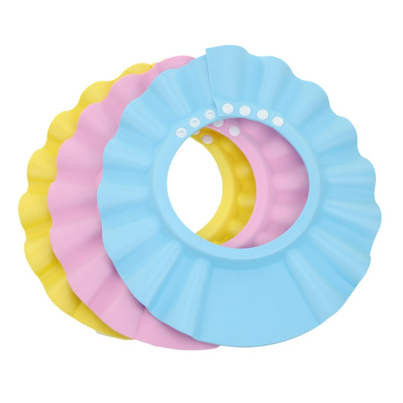 3pcs Baby Shower Cap Adjustable Infant Baby Hat Shampoo Shower Bath  Protection 2016 New Boys Girls