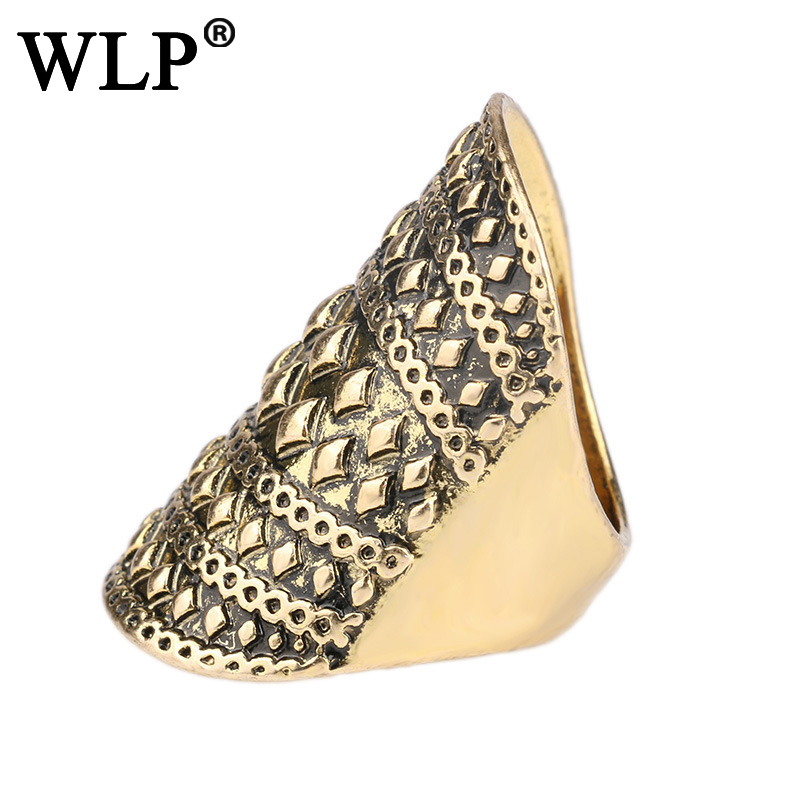 WLP2018Antique gole plated Knights Ring steel soldier man biker ring personality factory direct sale Shield jewely Ring Fashion