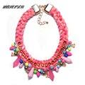 Manerson Cuerda Cadena Declaración Collar y Colgantes Estilo Collier Femme Bijoux Accesorios collar collar de Gargantilla Collar Collar de Moda