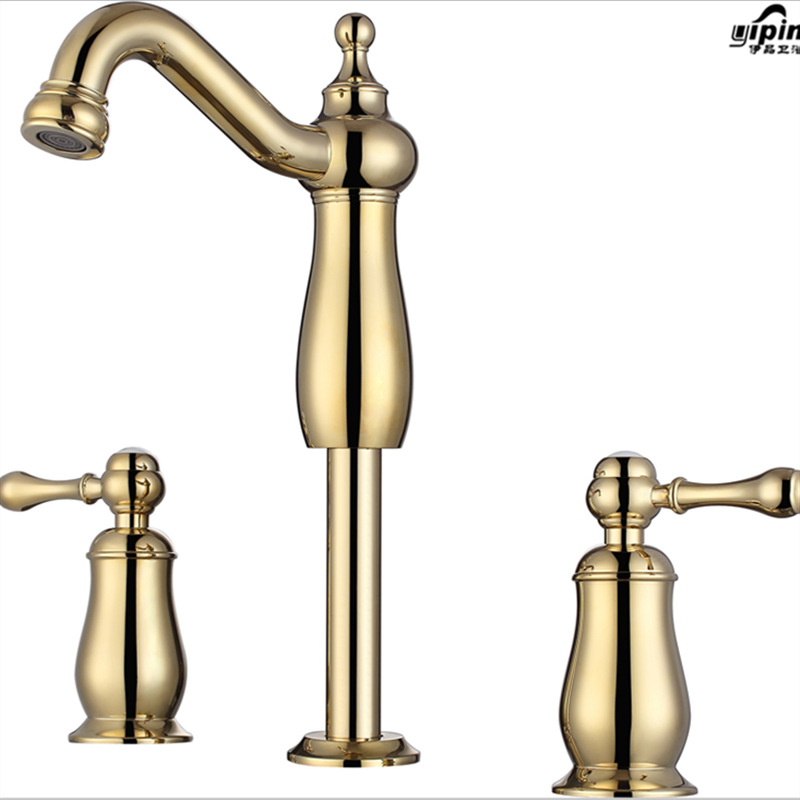 Aliexpress Com Electroplate Gold Kitchen Faucets Antique Brass