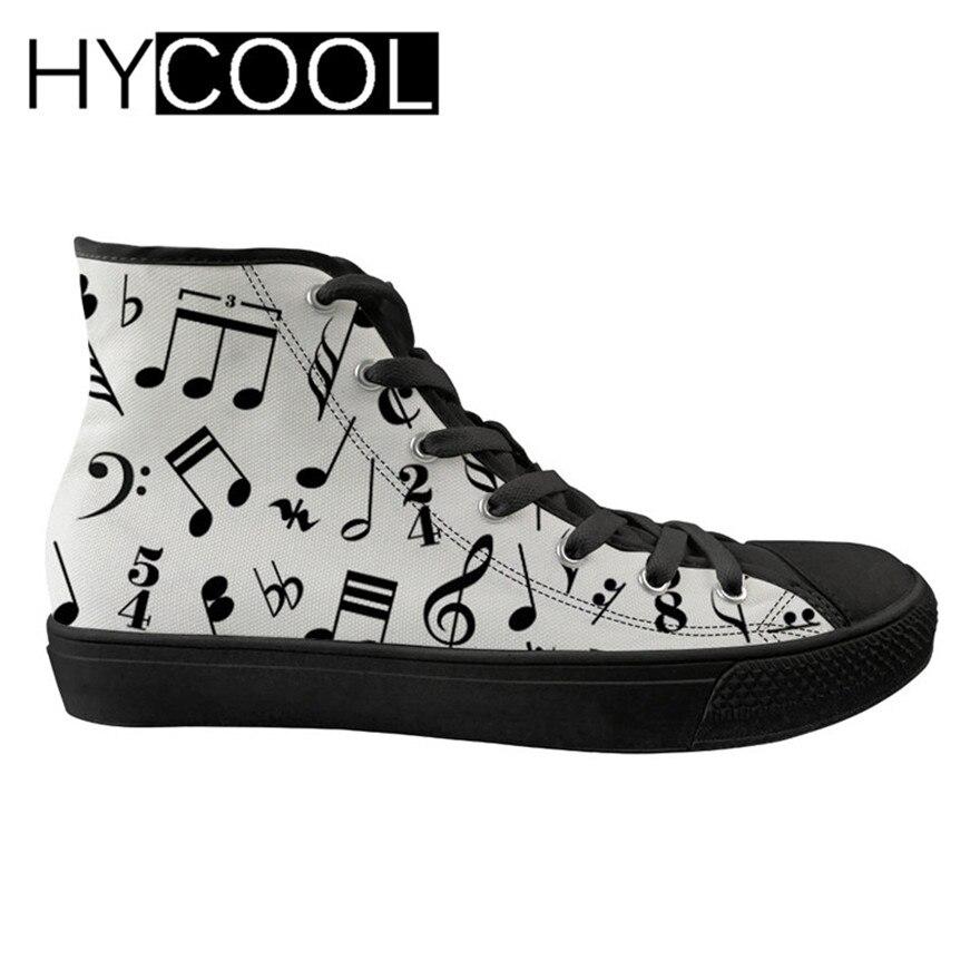 HYCOOL Sport chaussures de marche pour les femmes Note de musique Piano impression femmes Sport chaussures de Sport haut plat baskets chaussures à lacets