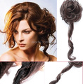 Длинные Синтетические Булочка Расширение Парики Лоток Хвост Расширение Вьющиеся Волосы Scrunchie Аксессуары