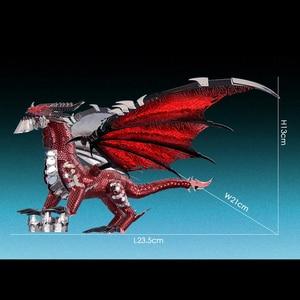 Image 4 - 2019 Piececool 3D Metal Puzzle The Black Dragon Model DIY Laser Cut Assemble Jigsaw Toy Desktop decoration GIFT For Audit kids