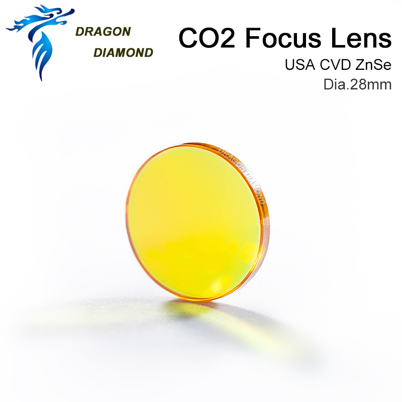 USA ZnSe Co2 Laser Lens 28mm Dia 50 8mm 63 5mm 2inch 2 5inch Focus Length