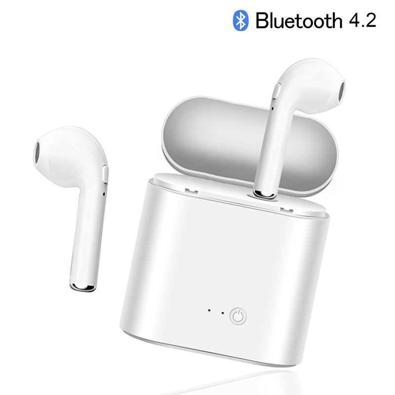 I7s TWS Wireless Bluetooth Earphones Mini Headset Stereo Headphones Sport Earbud Earphone With Mic For Smart phone spolrt phone