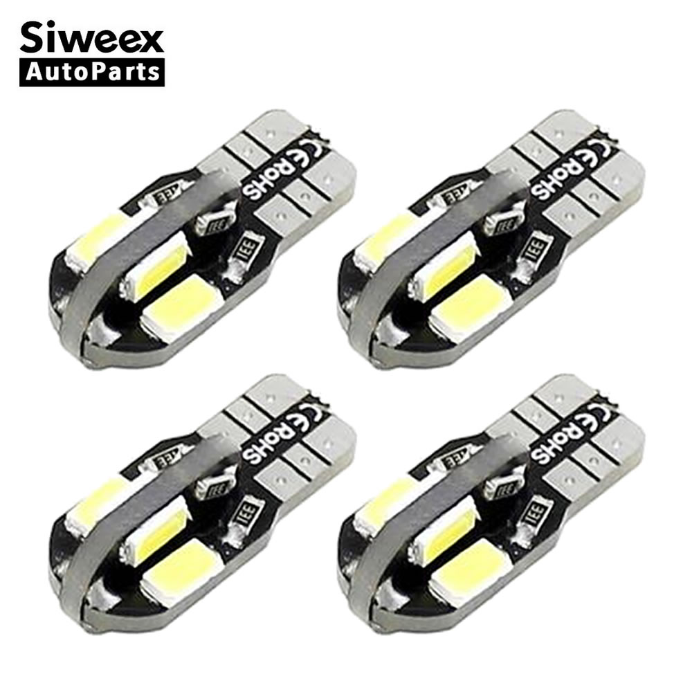 4 Pcs/Lot T10 W5W 194 168 Car LED Bulbs 8 SMD 5730 Light Side Marker Door Lamp Canbus NO OBC ERROR DC 12V White/Warm White 9005 3 5w 140 lumen 7000k 68x3528 smd led car white light bulbs pair dc 12v
