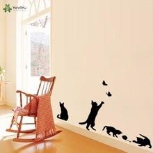 YOYOYU Wall Decal Vinyl Art Room Decoration Cat Play Living Decor Removable Lovely Sticker Mural Poster YO466