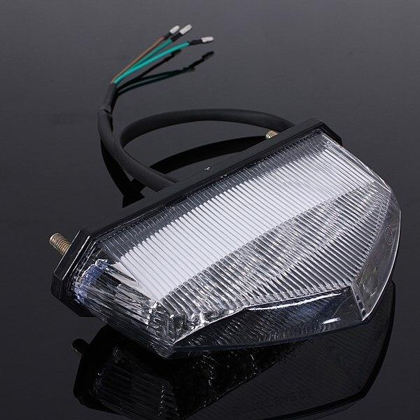 Motorcycle ATV Quad LED License Plate Rear Tail Stop Brake Indicator Light Lamp