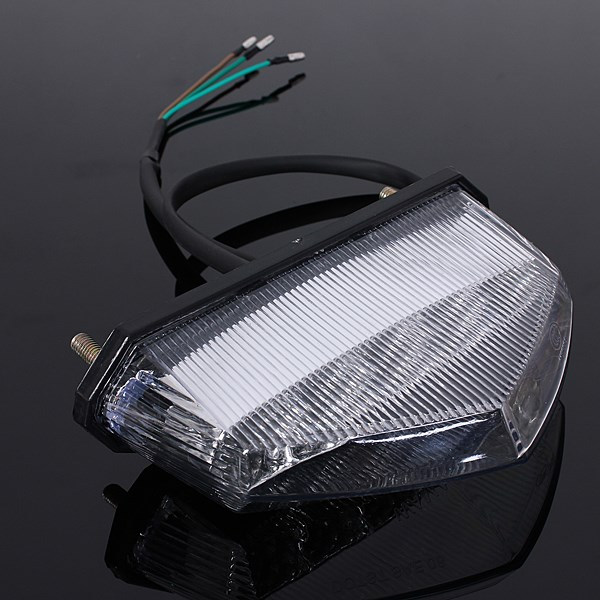 Motocicleta moto atv quad led placa de licença traseira cauda parar freio indicador luz da lâmpada