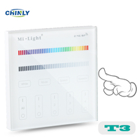 Mi Light T3 4 Zone RGB RGBW Wall Hanging LED Touch Switch Panel Remote LED Dimmer