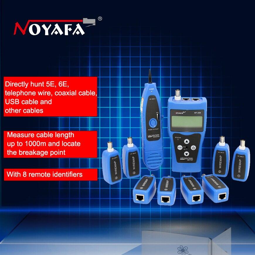 D'origine Noyafa NF-388 Bleu Version Anglaise multi-fonctionnel testeur de câble Réseau Câble traqueur RJ45 lan testeur d'affichage À CRISTAUX LIQUIDES