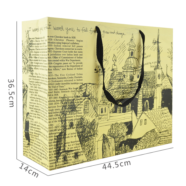Extra large European ancient towers gift bag gift bags wholesale clothing bag paper bag
