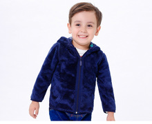 Double Sided Printing Children Cothing Boys Jacket Coat Cotton Girl Outerwear Hooded Sweatshirt Jacket Boys Outwear KW-1633