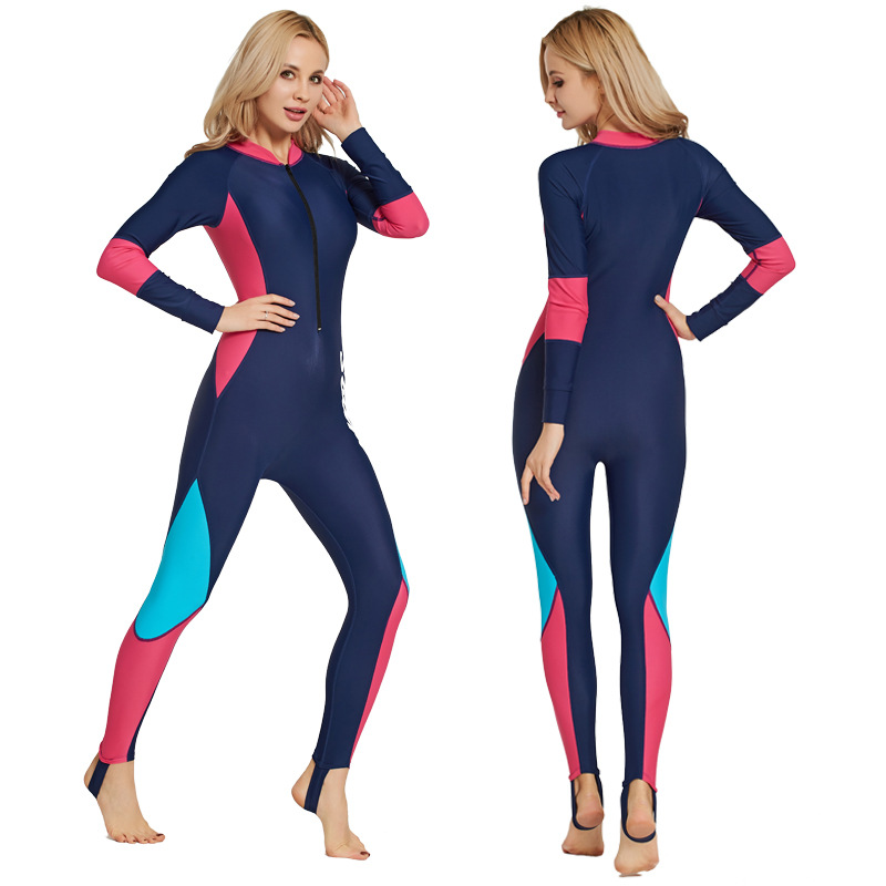 SBART Lycra Women Long Sleeve Diving Wetsuit One Piece Spearfishing Surfing full body Wetsuits Scuba Diving Equipment Wet Suit