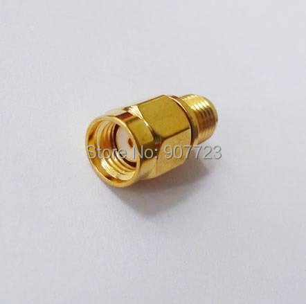 Adapter RP-SMA Male Jack To SMA Female Connector Straight Gold Plating
