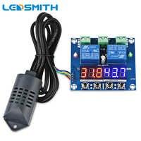 DC12V LED Digital Display Dual Ausgänge Temperatur und Feuchtigkeit Controller XH-M452 Thermostat Regler Thermometer Hygrometer
