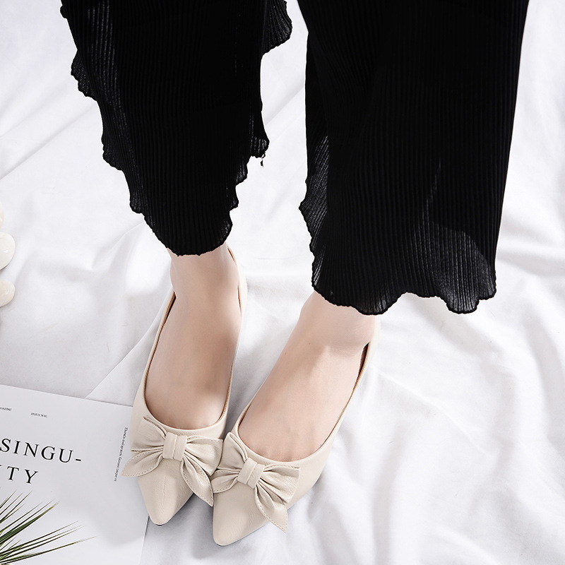 Sauvage Chaussures Pois Chaussures Nouveau Plat 2018 Cuir blanc En Noir Uv1w1p