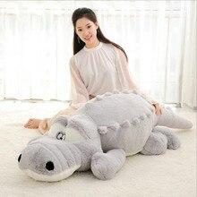 Huge Real Life Plush Crocodile Toys Cute Stuffed Animal Dolls Soft Doll High Quality Birthday Christmas Gift Toy