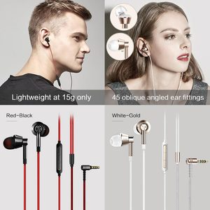 Image 2 - 1MORE 1M301 Dynamic Driver In Ear Earphone Headset with Mic for phone Ergonomic Comfort, Balanced Sound, Tangle Free Cable