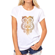New Fashion Summer Women T Shirt Good Quality Women Short Sleeve TShirt Owl Tops Tee Cartoon printing girl T-shirt 39W-13#
