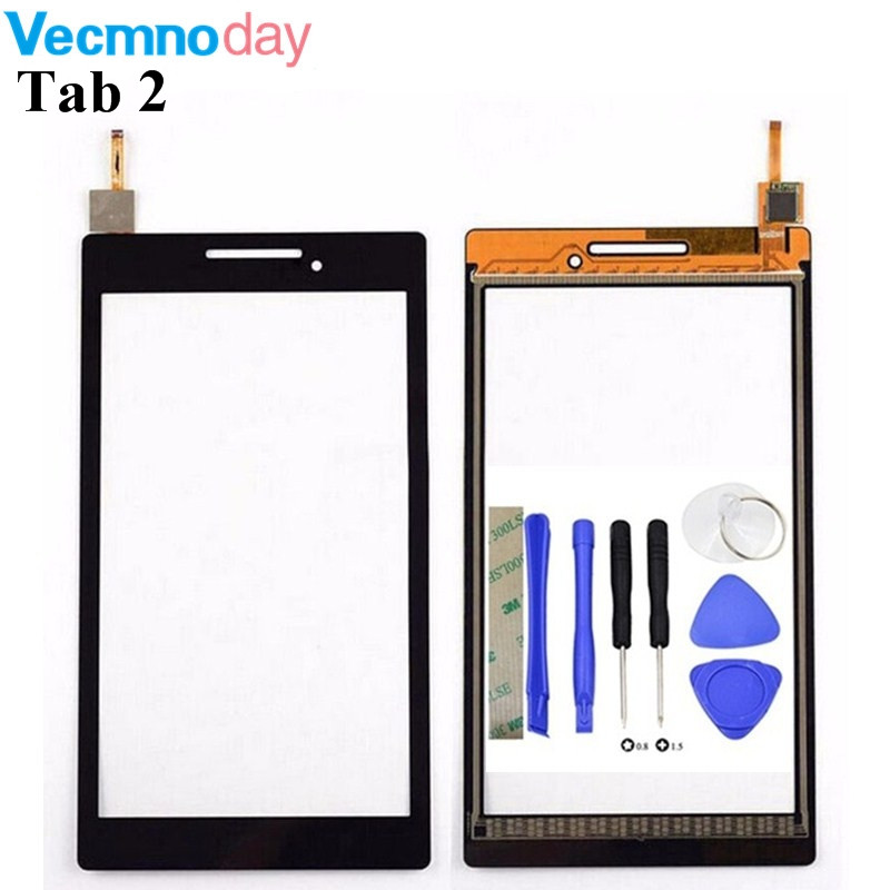 Vecmnoday For Lenovo Tab 2 A7-10 A7-10F A7 - 20  A7-20 A7-20F A7 10 Replacement Touch Screen Digitizer Glass Free Shipping
