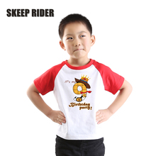 Kids Boys T Shirt Cotton Teenage Girls Tops 10 Years Child Clothes Letter Print Teenager Children Toddler