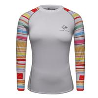 Printed Raglan Long Sleeve Women T-shirts Compression Shirt Ladies Clothes Winter Cosplay Costume Female Clothing Top Fitness