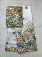 Африки Джордж Ткань Высокое качество индийские шелка сырца Джордж обертки Горячие Нигерии кружевной ткани Джордж комплект с блузкой для св